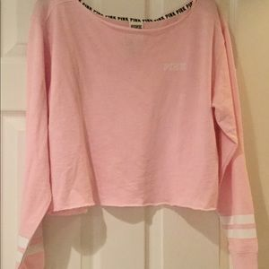 Pink Light weight cropped Sweatshirt